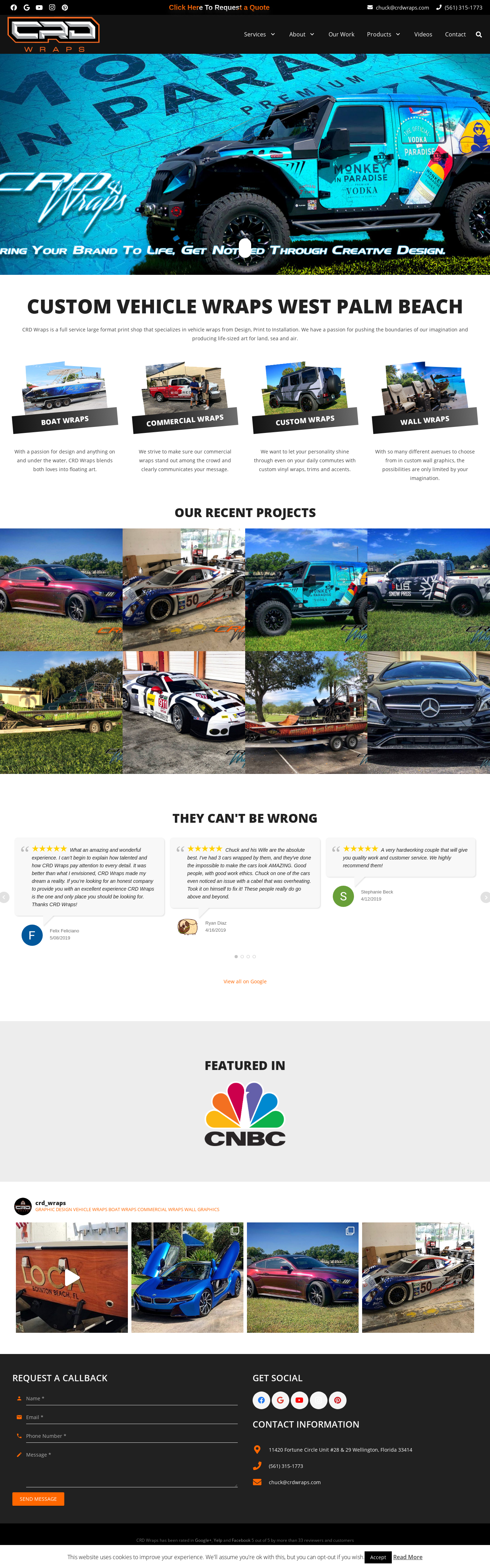 Web design and maintenance for CRD Wraps
